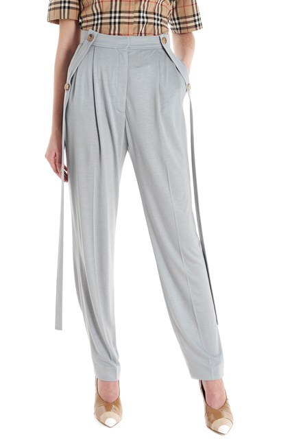 burberry Laces silk mix pants available
