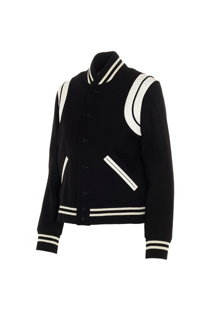 saint laurent 'Teddy' bomber jacket available on www.julian-fashion.com -  130696 - NZ