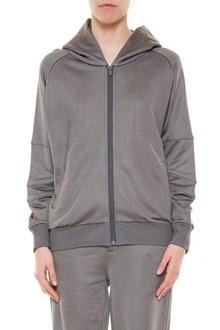 JO NO FUI Hooded zipped printed embroidered sweatshirt
