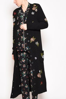 REDVALENTINO 'Wallpaper flower' embroidered v-neck maxi cardigan