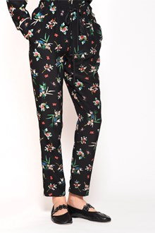 REDVALENTINO 'Wallpaper flower' printed silk pajamas pants with drawstring