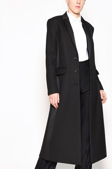 REDVALENTINO Long smoking style coat with side satin bands