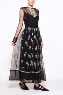 REDVALENTINO Embroidered tulle long dress