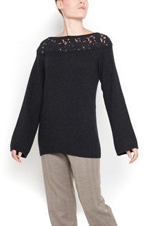 AGNONA sweater with embroidery  crew-neck
