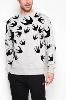 McQ ALEXANDER McQUEEN Clean crew neck 'Swallow' printed sweatshirt