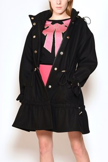 BOUTIQUE MOSCHINO Hooded coat with drawstrings