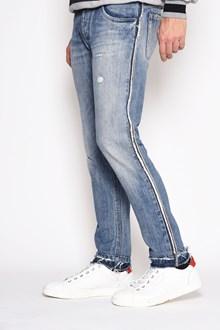 DOLCE & GABBANA 'Sailing ship' printed on the back denim jeans. Crutch 14