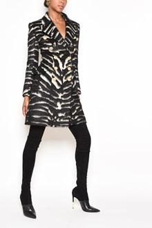 BALMAIN striped coat