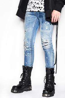 FAITH CONNEXION Denim destroyed faded slim fit jeans