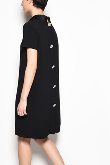 GIANLUCA CAPANNOLO 'Severine' 1/2 sleeves viscose dress with jewel buttons on the back