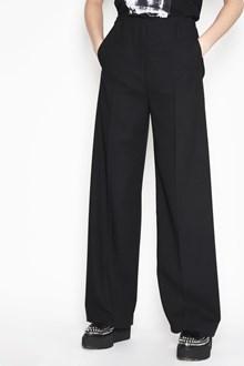 McQ ALEXANDER McQUEEN Virgin wool high waist with button, pockets and wide legs