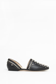 JIMMY CHOO Leather studded flats open at the side