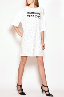 BOUTIQUE MOSCHINO swarowsky logo dress