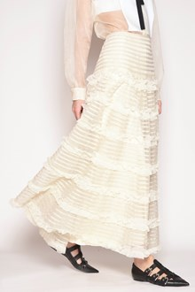 REDVALENTINO Organza skirt with flounces