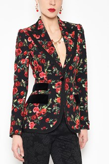 DOLCE & GABBANA 'Roses' all over printed cady jacket