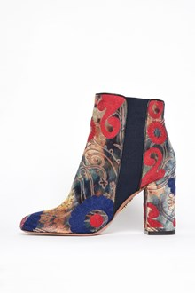 AQUAZZURA 'Velvet' embroidered booties with elastic band