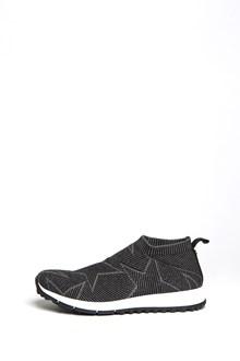 JIMMY CHOO 'Norway' lurex sneaker with 'stars' inlay