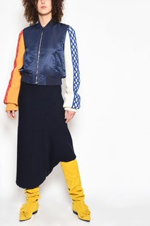 J.W.ANDERSON Zipped bomber jacket with applications on the sleeves