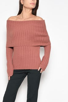 THEORY Ribbed sweater with fold over collar
