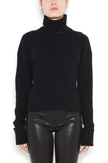 AVIU' turtleneck sweater with sequinned neck detail