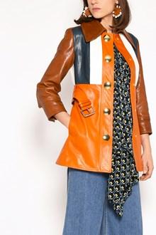MARNI Leather jacket with belt