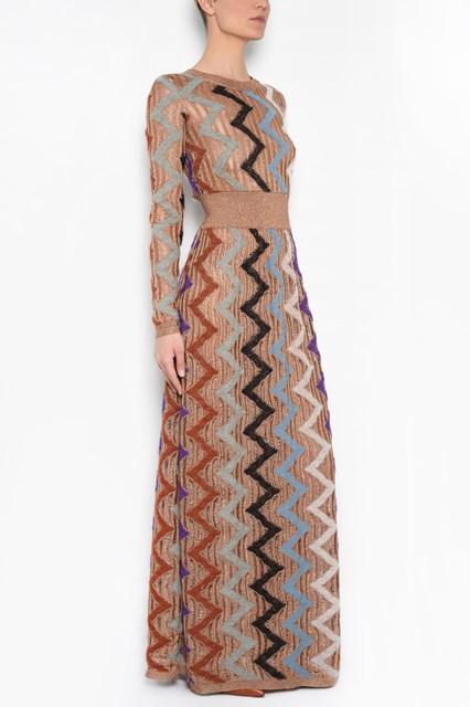 MISSONI zig zag long dress