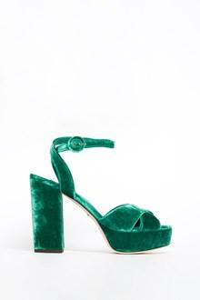 DOLCE & GABBANA 'Kyra' velvet braided sandal