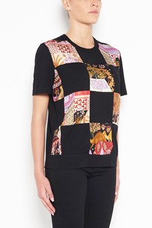 SALVATORE FERRAGAMO Wool t-shirt with patchwork