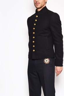 DOLCE & GABBANA 'Marsina' military jacket with front and back gold buttons