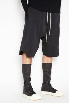 RICK OWENS 'Basket swinger' wide bermuda with elastic band on waist