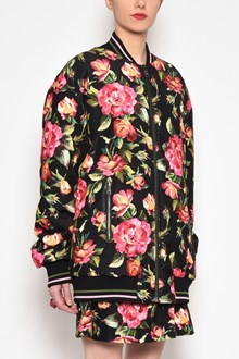 DOLCE & GABBANA 'Roses' all over printed zipped oversize bomber jacket