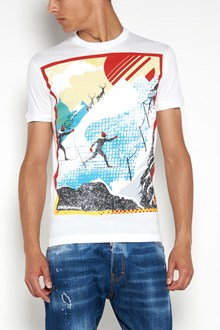 DSQUARED2 cotton 1/2 sleeves printed t-shirt
