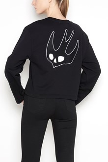 McQ ALEXANDER McQUEEN Cotton oversize sweatshirt with frontal and retro swallow patch