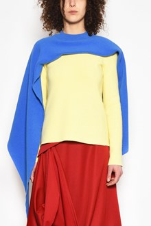 J.W.ANDERSON Wool cardigan with contrast cape