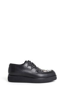 VALENTINO GARAVANI creepers v-creep calf leather sneaker with studs