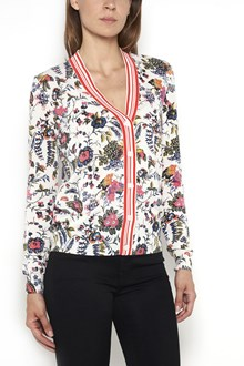TORY BURCH 'Gabriella floral' printed cardigan in egyptian cotton with buttons closure