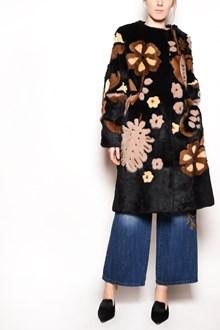 ALBERTA FERRETTI 'Flowers' inlaid mink fur