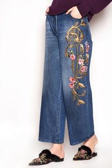 ALBERTA FERRETTI Cotton jeans with embroidery