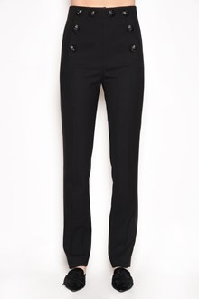 ALBERTA FERRETTI Wool trousers with buttons and side lace bands