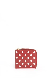 COMME DES GARÇONS Leather polkadot wallet with zipper