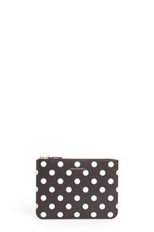COMME DES GARÇONS Leather polka dots clutch