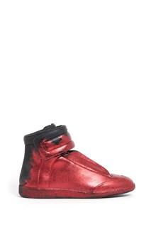 MAISON MARGIELA sneaker 'Future' alte in pelle con glitter rossi