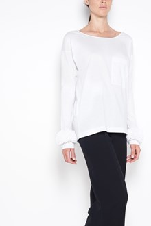 PRADA cotton long sleeves  top with rouches