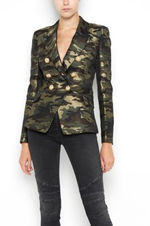 BALMAIN Giacca sei bottoni  tailleur stampa camouflage