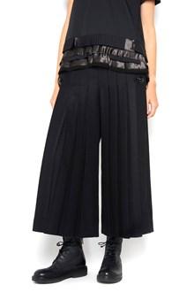 SACAI Wide pleated wool high waist pants
