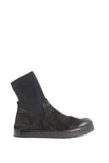 MARSÈLL calf leather ankle boots with wool socks