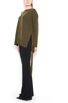 THEORY Cashmere sweatshirt with lateral slit and back belt