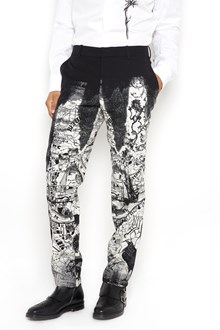 ALEXANDER MCQUEEN 'London map' printed trousers