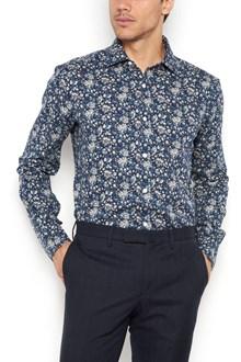 BARBA Camicia cotone polso stondato con  stampa fiore all over
