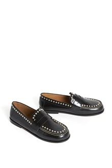 ISABEL MARANT 'Fenzay' calf leather slippers with studs